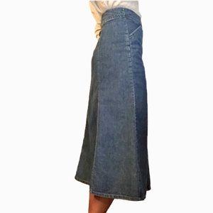 Pendleton High Waist Denim Midi Skirt